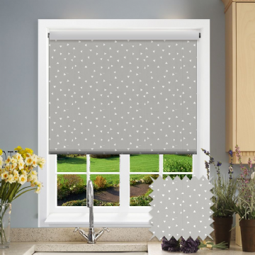 Grey Triangle Patterned Roller Blind in Pico Grey
